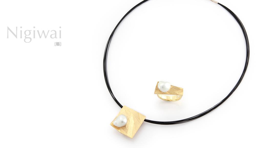 Nigiwai[賑] K18 Pearl Ring, Pendant SHINKO STUDIO