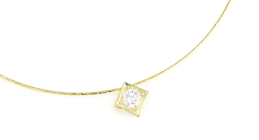 K18 Diamond Pendant custom made