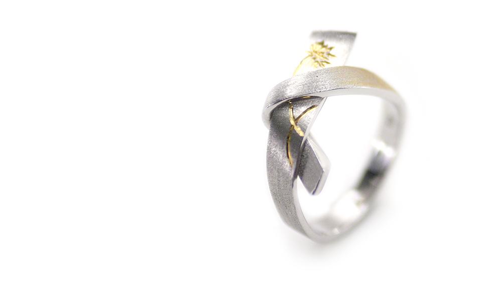 Nozomi[希]K18 Diamond Ring SHINKO STUDIO