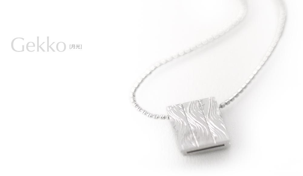 Gekko[月光] SV925 Pendant / modern contemporary japanese designers jewelry SHINKO STUDIO