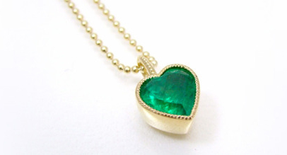 K18 Emerald pendant custom made
