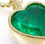 K18 Emerald Pendant custom made SHINKO STUDIO