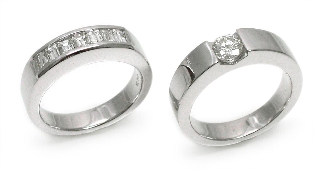K18WG Stacked Diamond Ring
