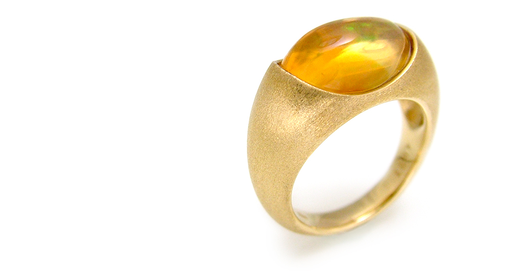K18 Opal Ring custom made SHINKO STUDIO