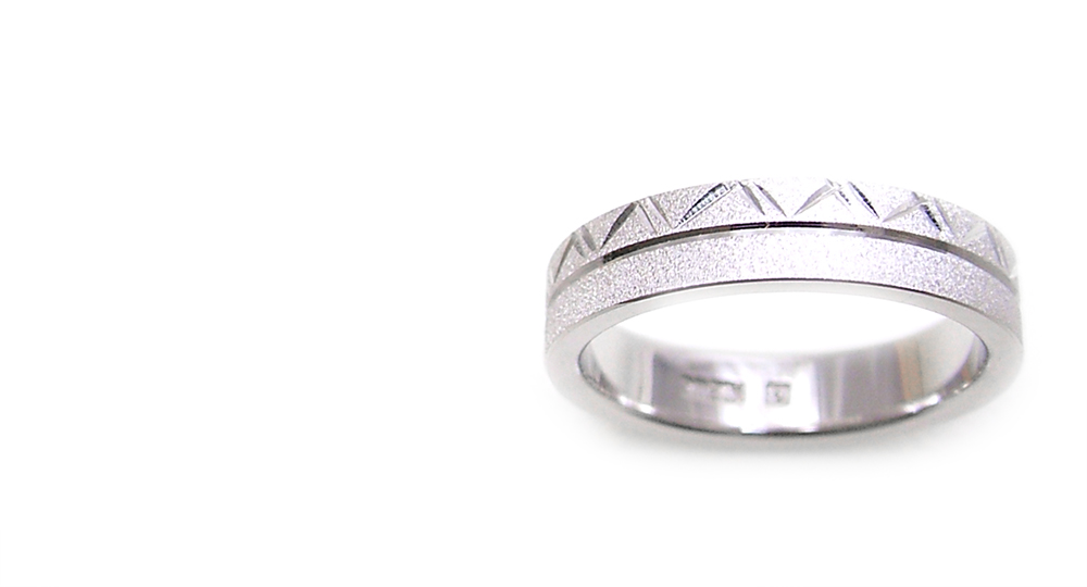 Pt Japanese Engraving Ring Custom Order