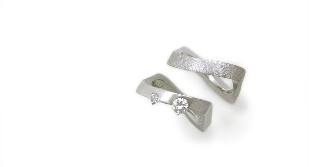 K18WG Diamonds Rings custom made SHINKO STUDIO