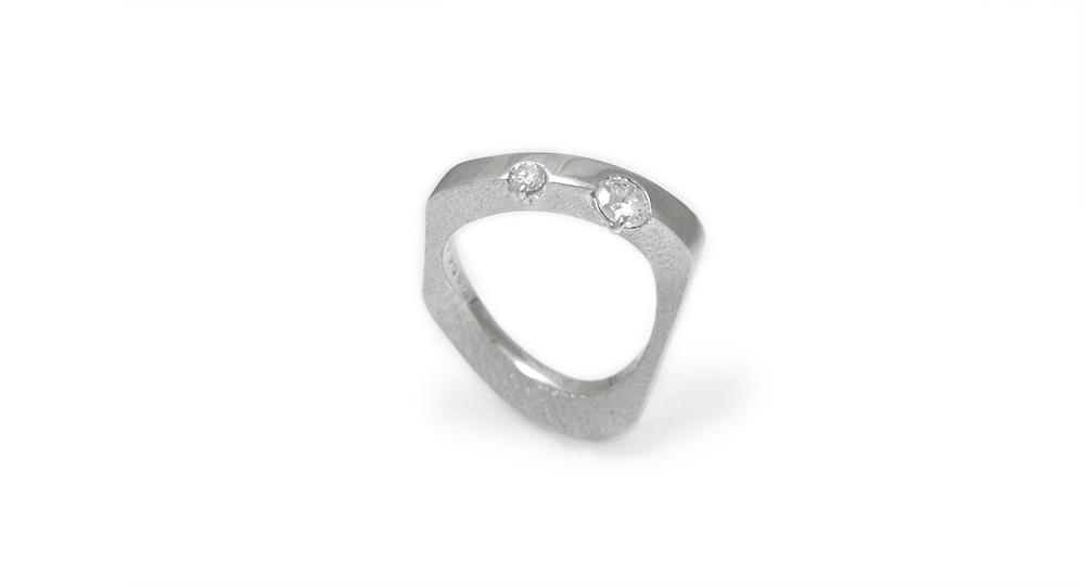 K18WG Diamonds Ring custom made SHINKO STUDIO