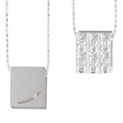 silver necklace [Gekko 月光]