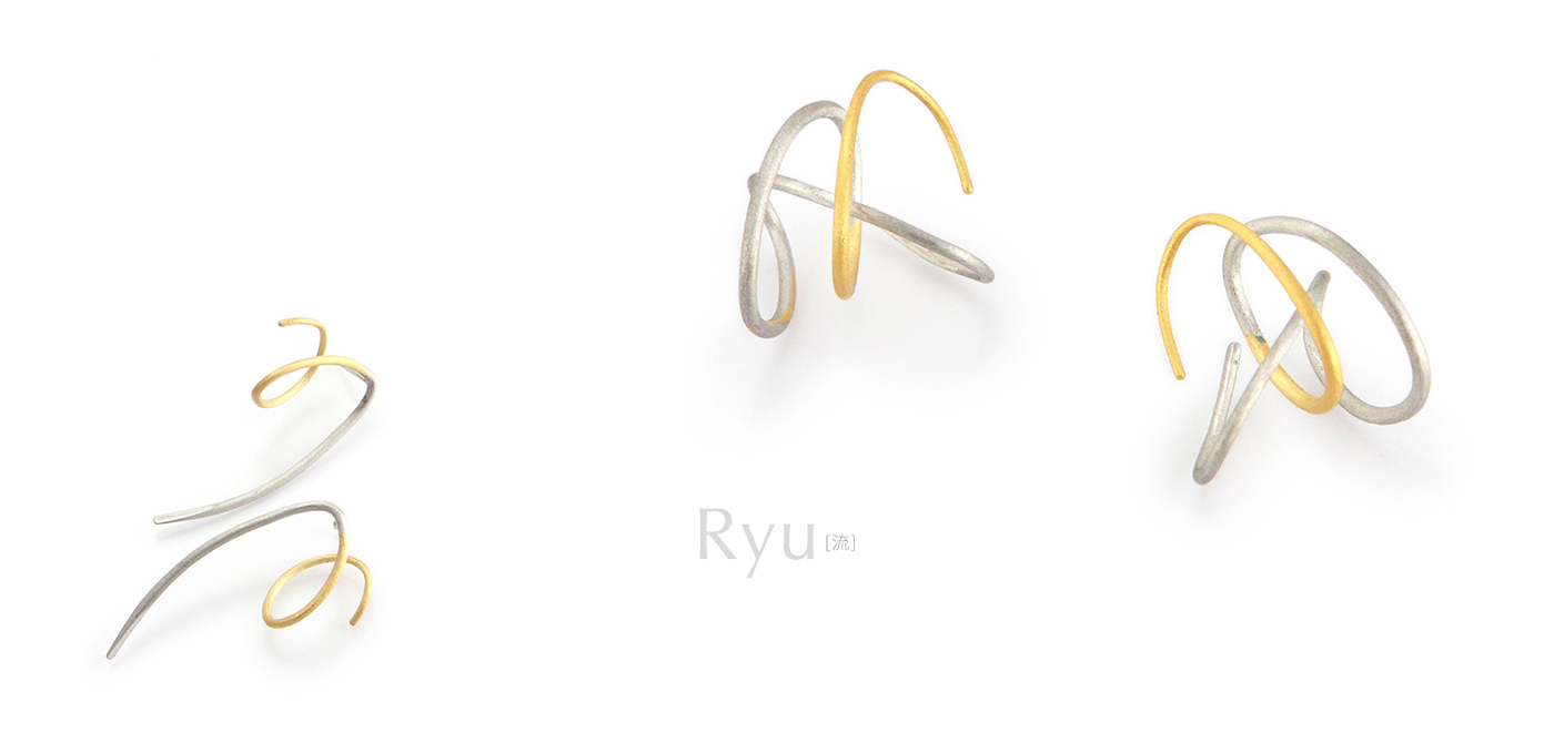 "SHINKO STUDIO japanese jewelry earrings ""ryu"""