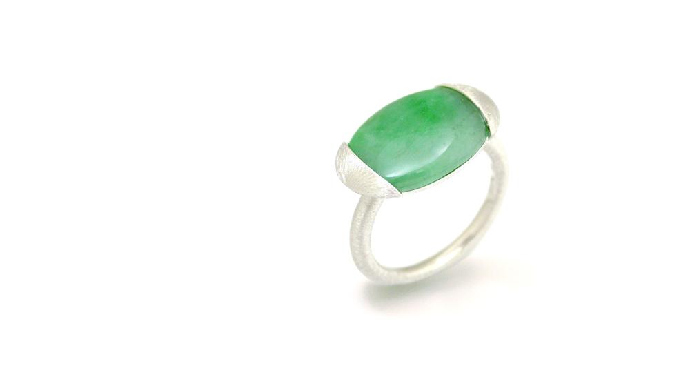 Pt900 Jade ring custom made Shinko Studio