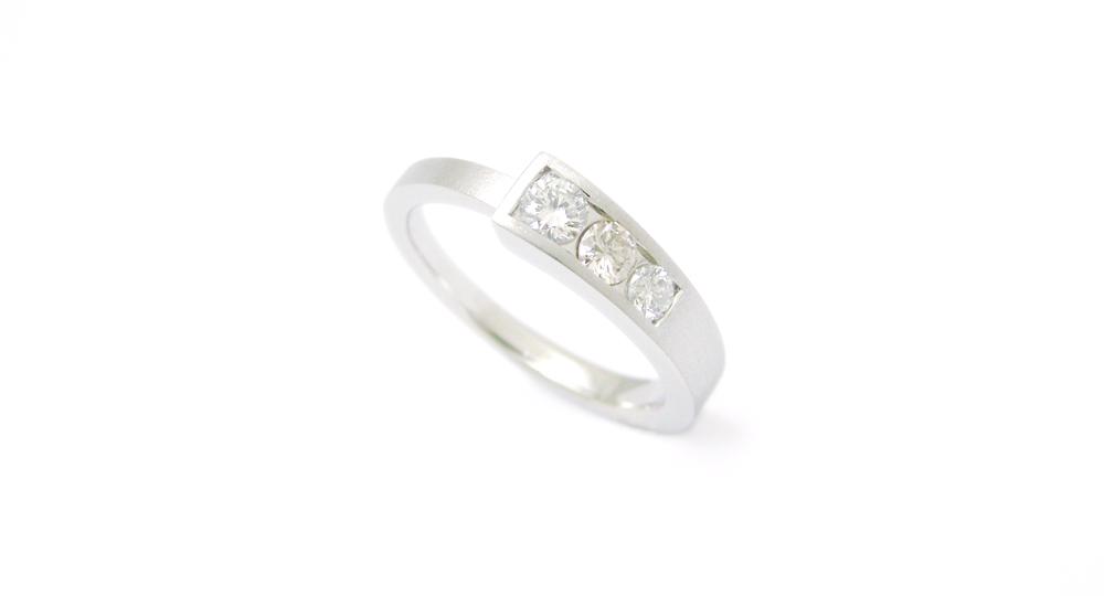 Pt. 3pieaces Diamonds Ring Custom Order SHINKO STUDIO