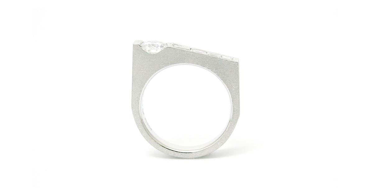 Pt900 Diamonds Ring SHinko Studio