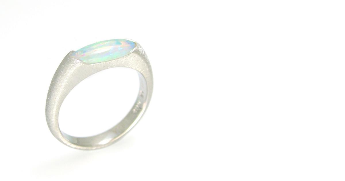 Pt900 Opal Ring shinko Studio