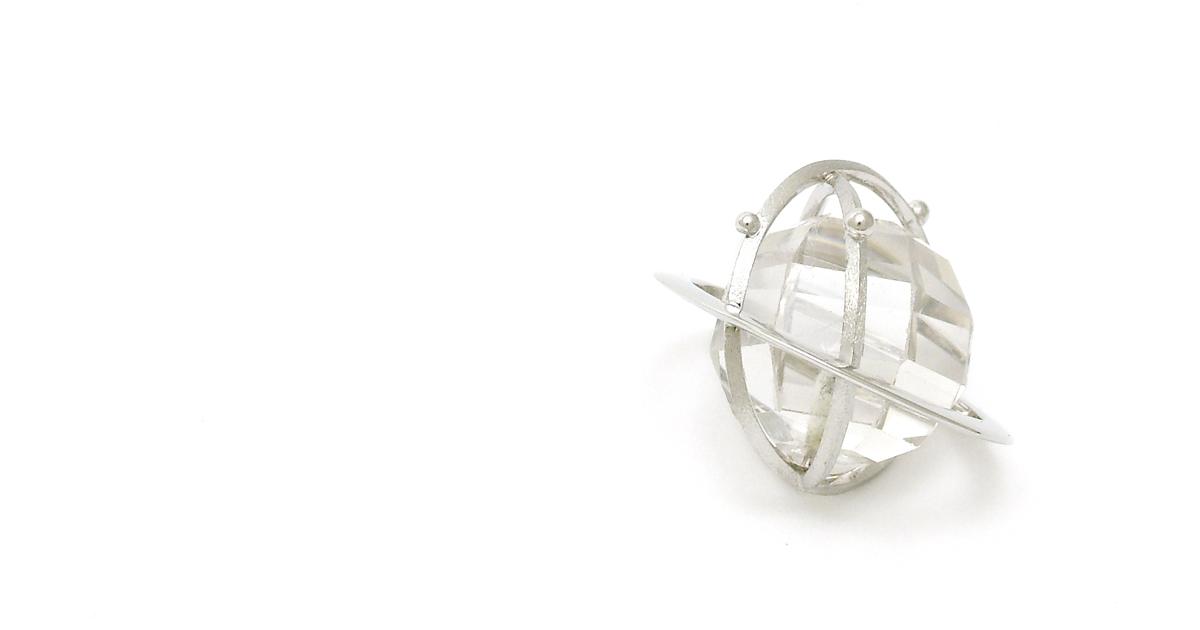 Pt900 Crystal Quartz Pendant custom order Shinko Studio