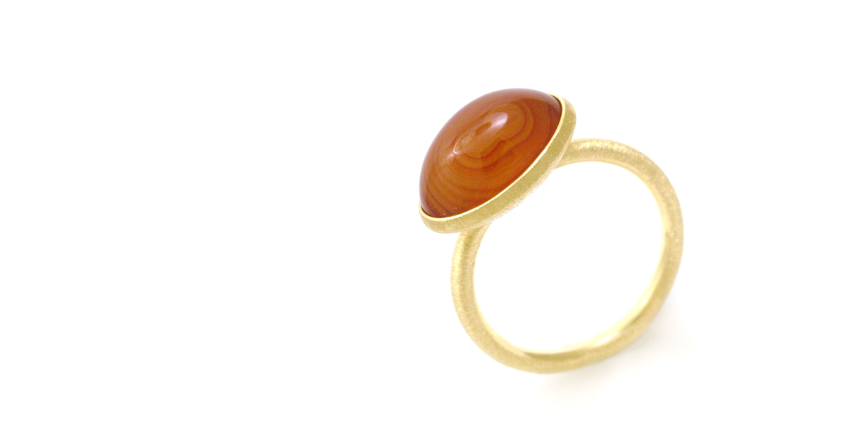 K18 Agate Ring Custom made jewelry Shinko Studio