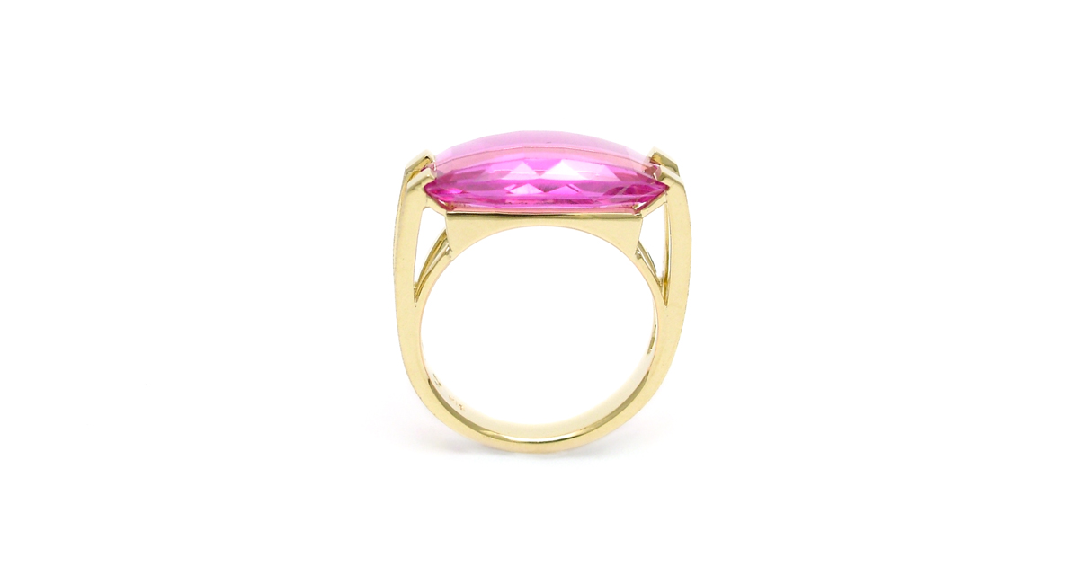 custom order K18 synthetic ruby ring. SHINKO STUDIO