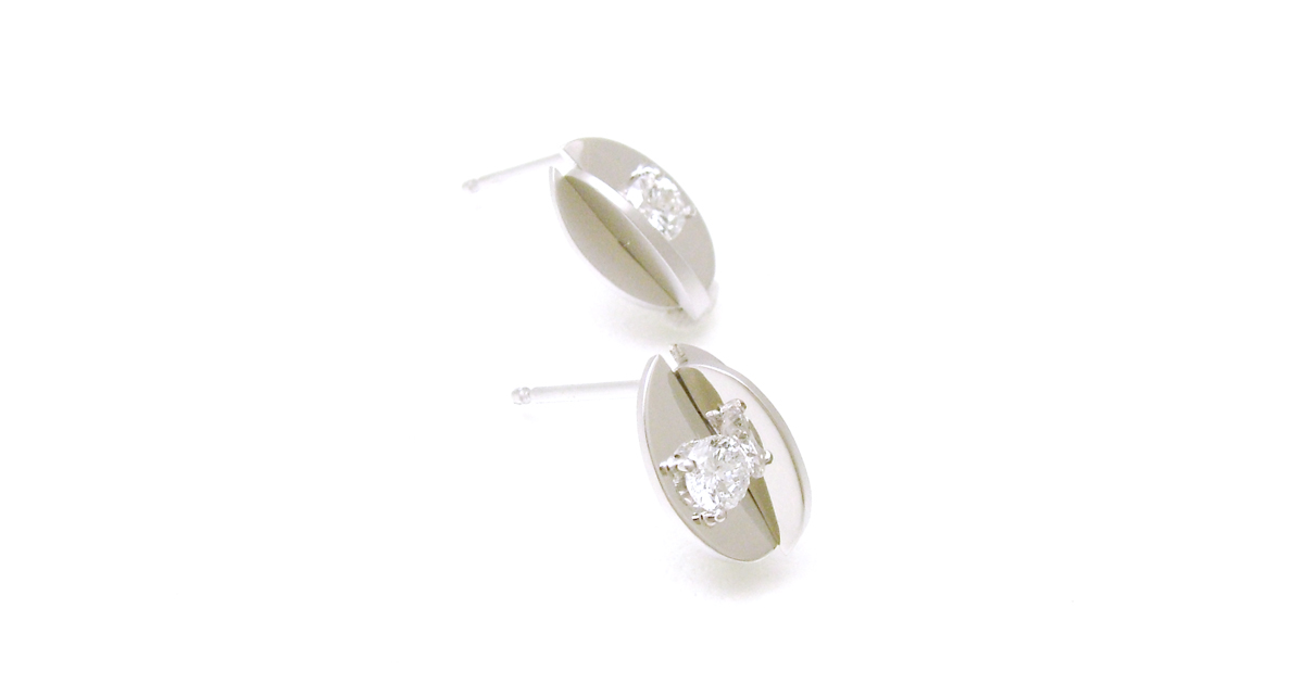 Pt900 diamond earrings SHINKO STUDIO