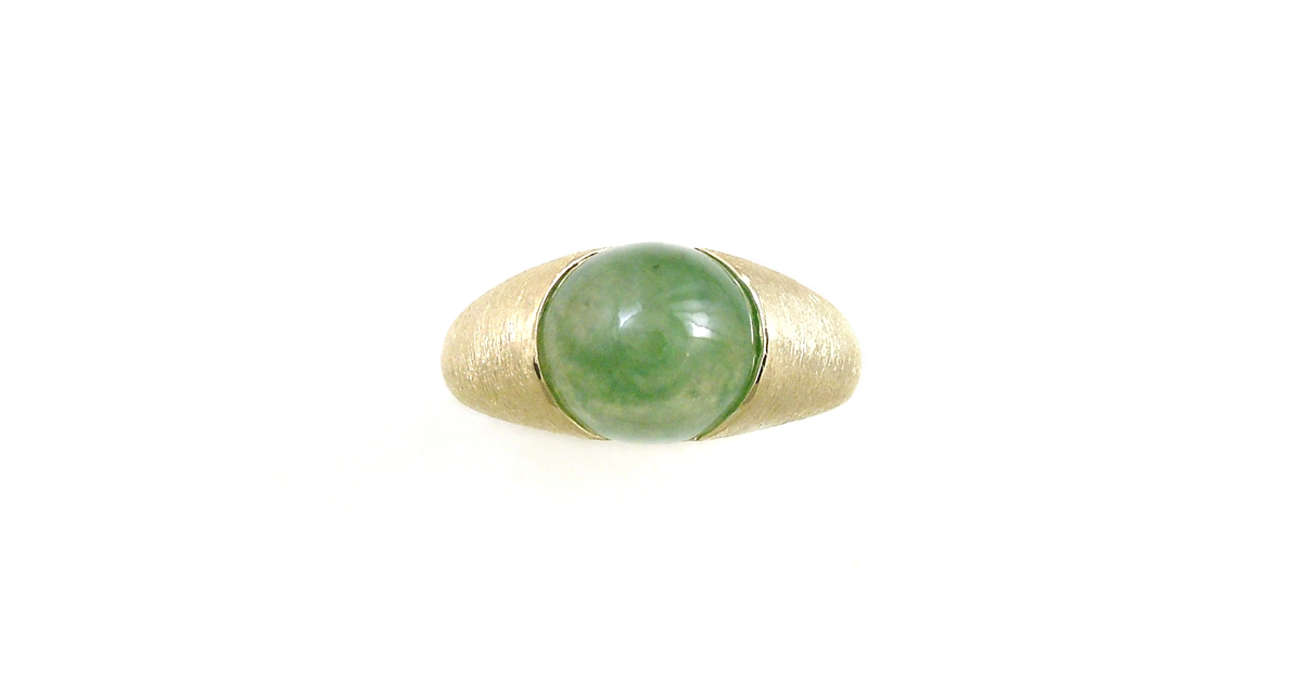 K18 Jade Ring Custom Order SHINKO STUDIO