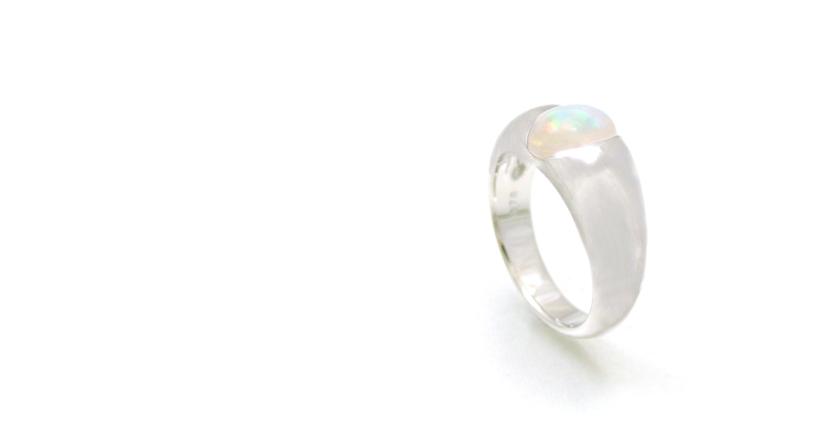 Pt900 Opal Ring Custom Order Shinko Studio