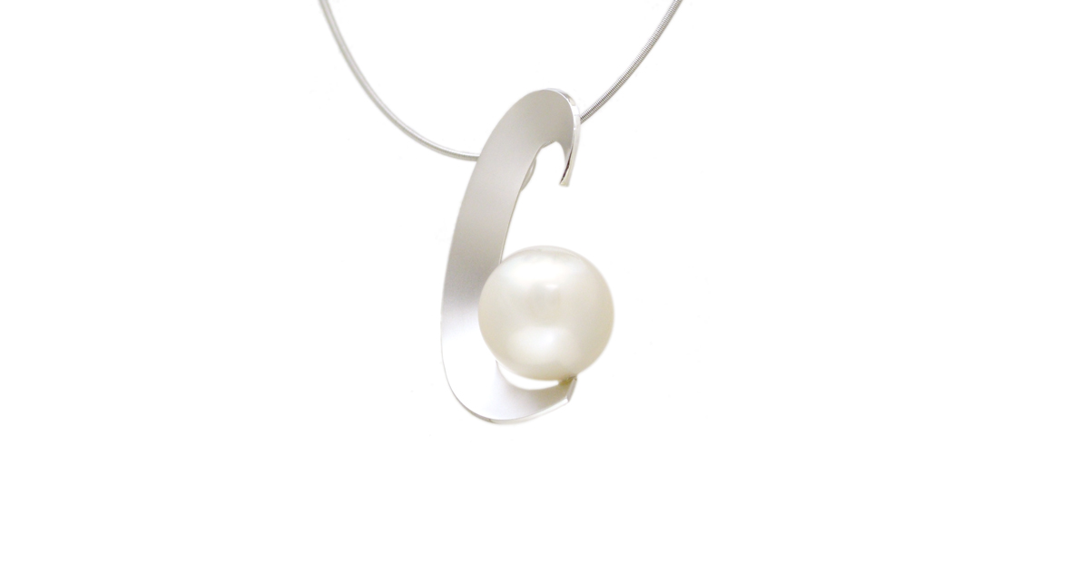 Pt900 Pearl Pendant Custom order jewelry SHINKO STUDIO
