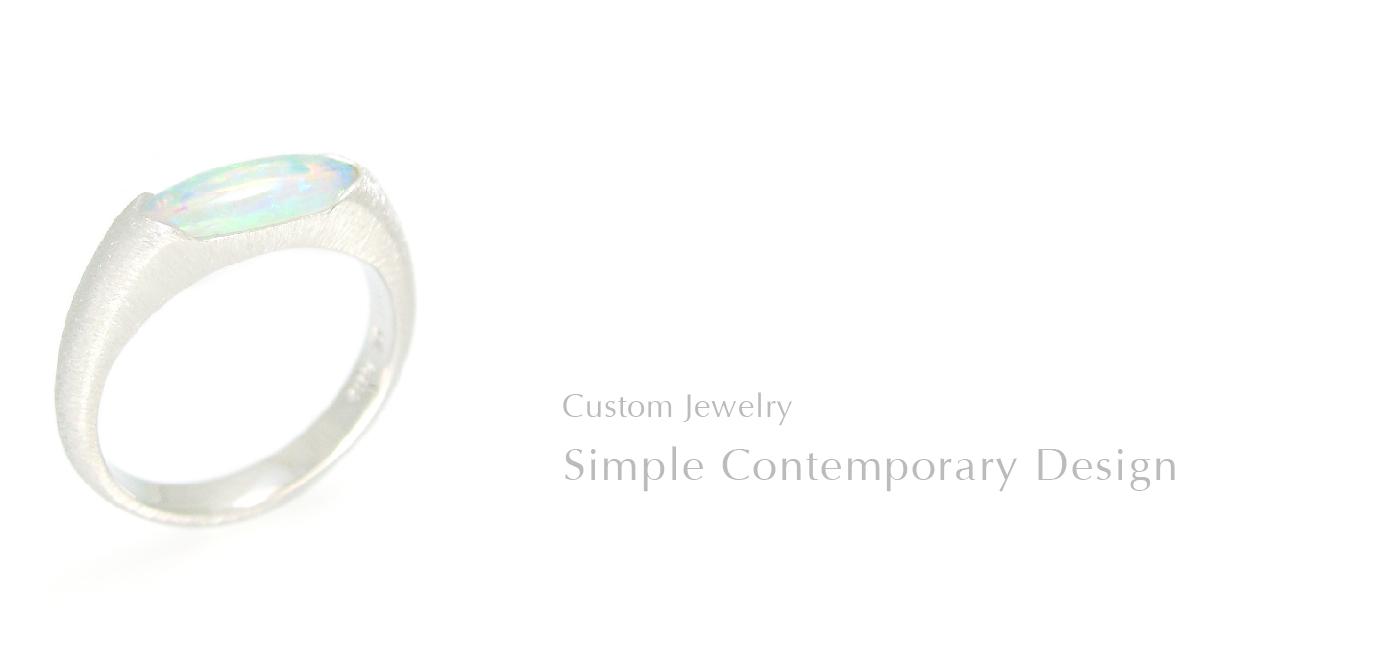 Simple Contemporary Design SHINKO STUDIO Custom Jewelry