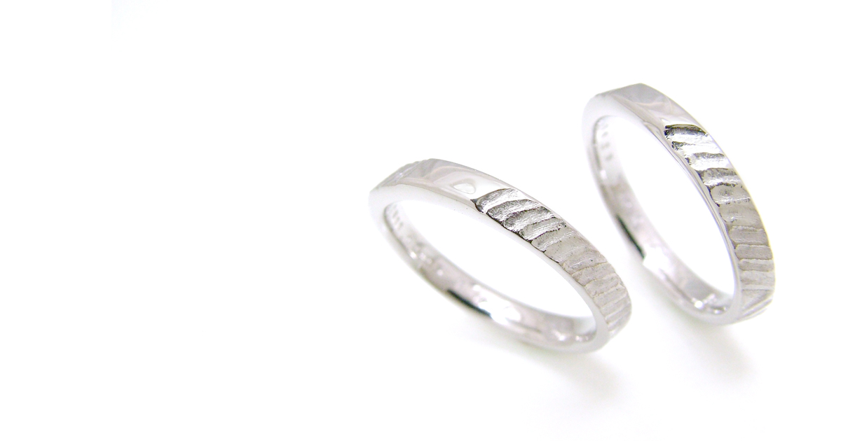 Pt900 Marriage ring custom order SHINKO STUDIO
