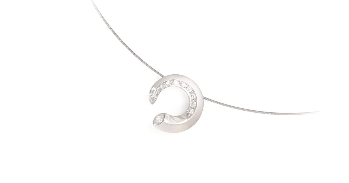 Pt900 Diamonds Pendant Japanese  jewelry Custom Order SHINKO STUDIO