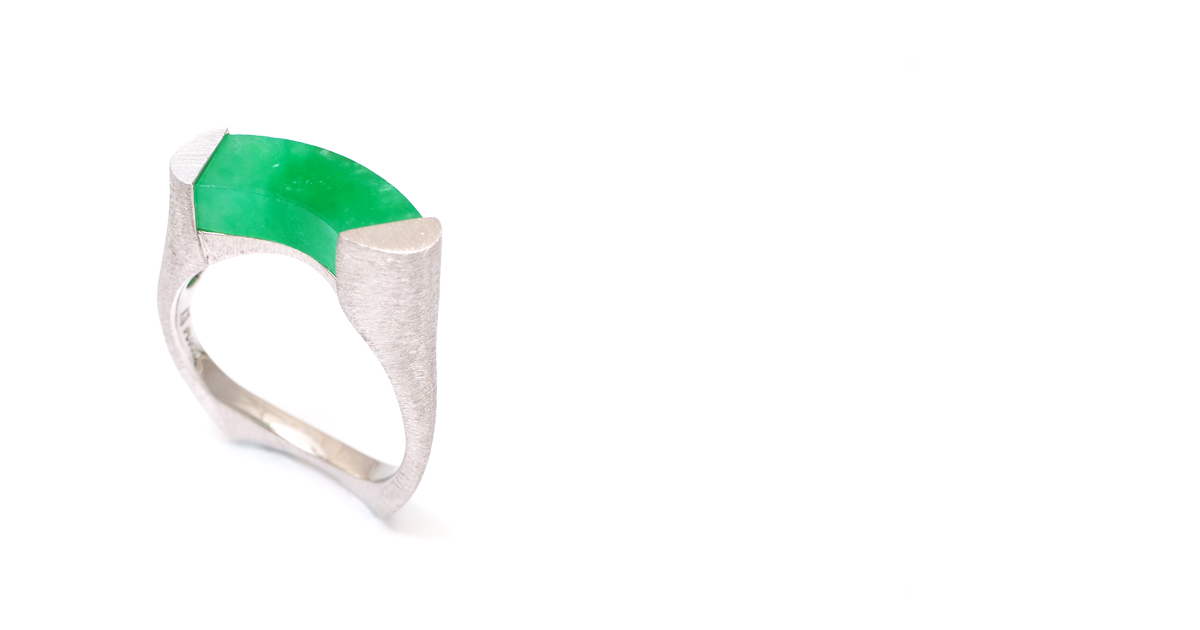Pt900 Jade Ring Custom Order SHINKO STUDIO