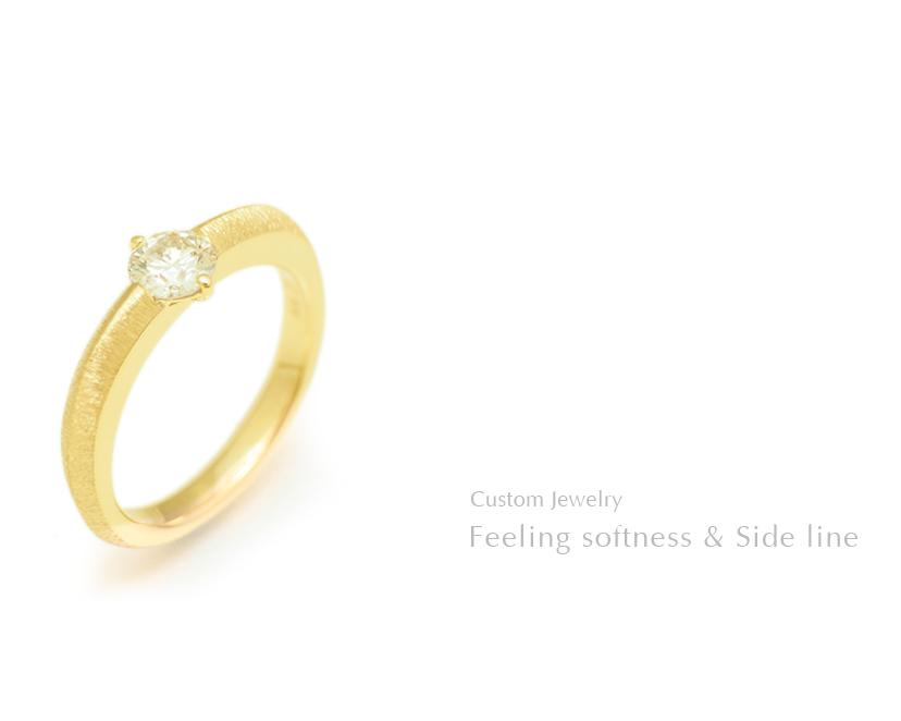 Feeling softness & Side line SHINKO STUDIO Custom Jewelry
