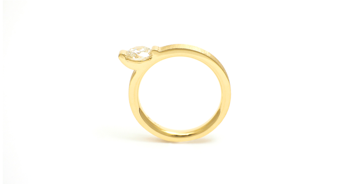 K18 Diamond Ring Custom order SHINKO STUDIO