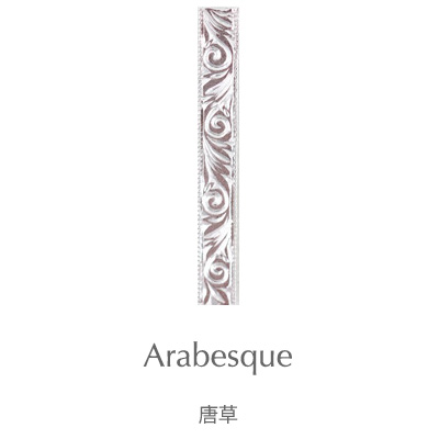 Arabesque, Subaru : 925 Sterling Silver Japanese Engraved Pendant Engraving Patterns