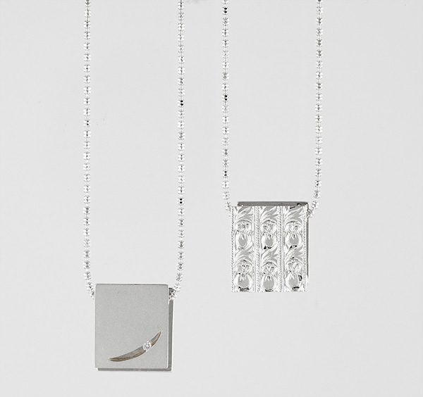 Silver, Gekko Necklace, Moonlight