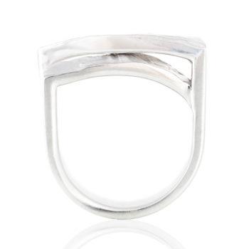 Haku[箔] : Leaf- Sterling Silver Diamonds Ring SHINKOSTUDIO