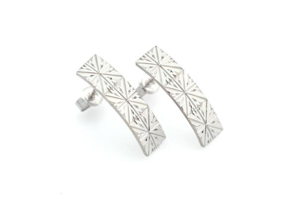 Hitohira Earrings K18YG/WG Japanese Engraving SHINKOSTUDIO