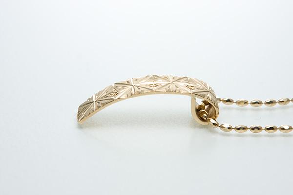 Hitohira Pendant[一葩] - K18YG/WG Japanese Engraving Pendant