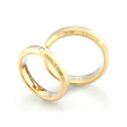 Shinogi[鎬]- Pt900・K18YG Ring/ Diamond Ring