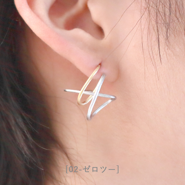 Ryu[流]- Silver925 Rhodium/Gold plated Earrings Japanese jewelry SHINKOSTUDIO