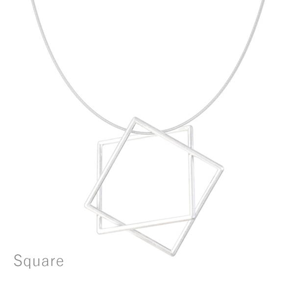 Surface[面と線] - K18YG/WG Necklace Square SHINKOSTUDIO