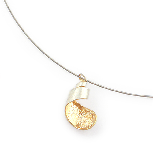 Tsutsum[包]- Silver925 Rhodium/Gold plated Japanese Texture Pendant/necklace