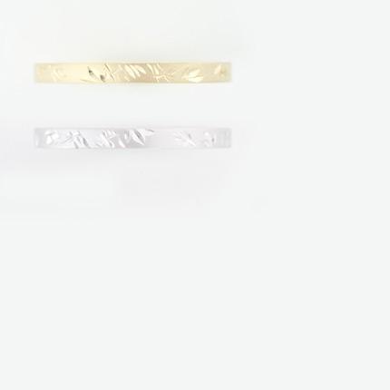 竹 Take シルバー, K18, Pt 和彫りリング