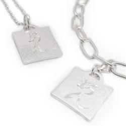 Kanji Charm[漢字チャーム] 手彫りでお名前を彫りいれ シルバーチャーム