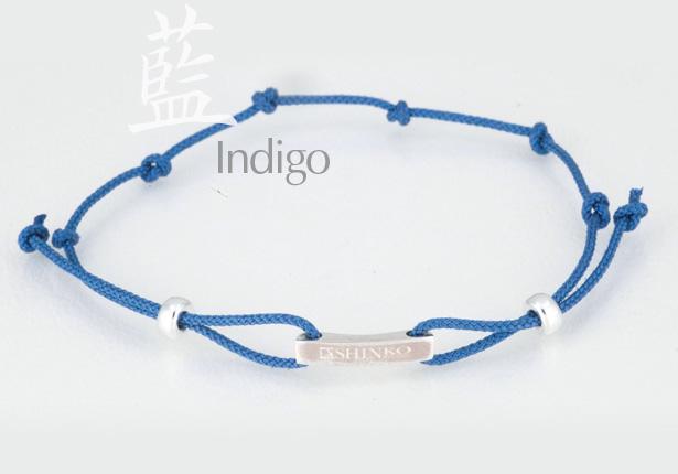 正絹組紐ブレスレット 藍