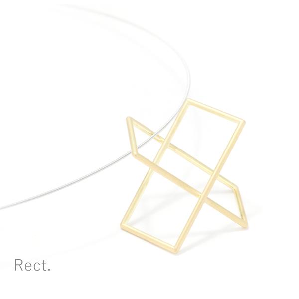 Surface[面と線] K18YG/ WG ペンダント ネックレス 長方形 SHINKOSTUDIO シンコーストゥディオ