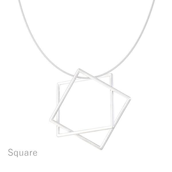 Surface[面と線] K18YG/ WG ペンダント ネックレス スクエア SHINKOSTUDIO シンコーストゥディオ