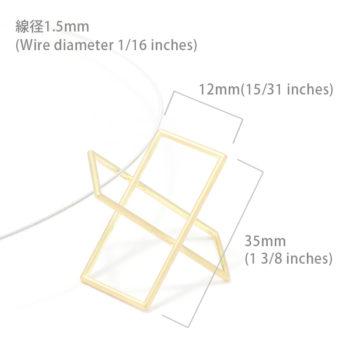 Surface[面と線] K18YG/ WG ペンダント ネックレス オーバル SHINKOSTUDIO シンコーストゥディオ