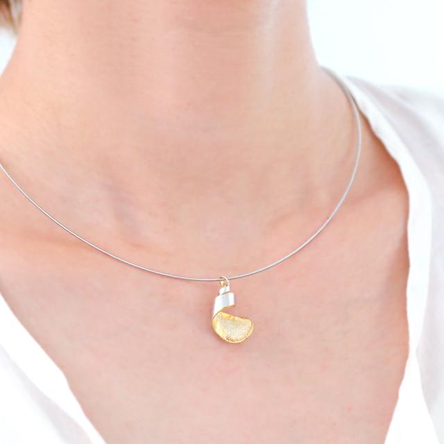 Tsutsum [包] シルバー ゴールド ペンダント ネックレス