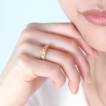 K18 Mitsuru[満] ダイヤモンドリング SHINKOSTUDIO シンコーストゥディオ