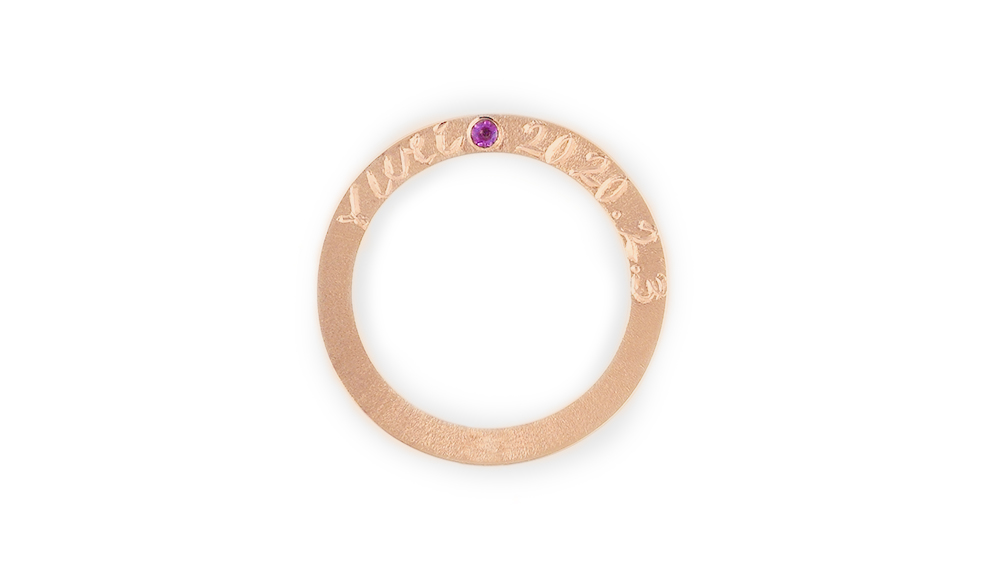 Anniversarry Pendant-Ring[アニバーサリーペンダント-リング] K18PGペンダントリング シンコーストゥディオ SHINKO STUDIO