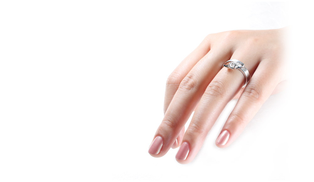 Tensan[天蚕]K18WGダイヤモンドリング シンコーストゥディオ SHINKO STUDIO