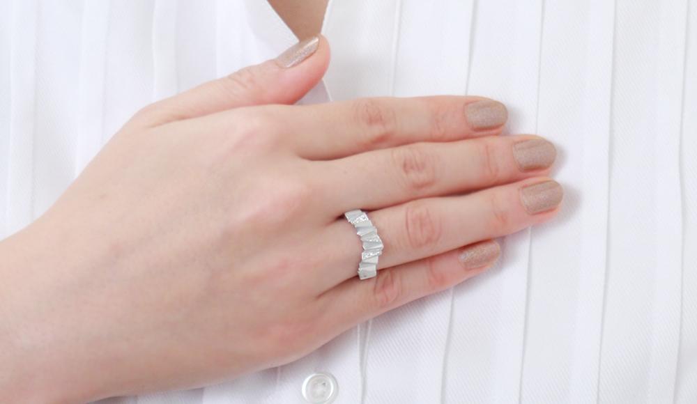 Karakami[唐紙]SVダイヤモンドリング シンコーストゥディオ SHINKO STUDIO